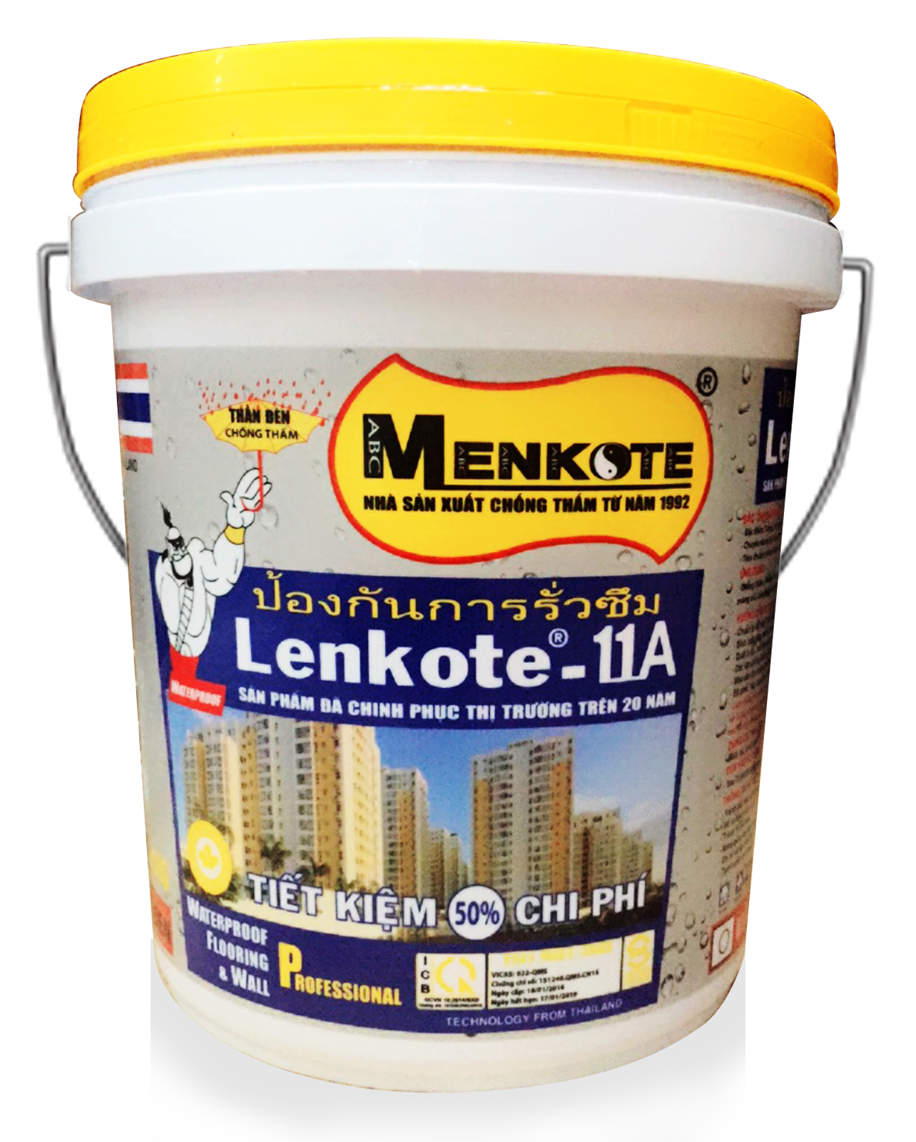 CHỐNG THẤM CT11A- LENKOTE - 20KG